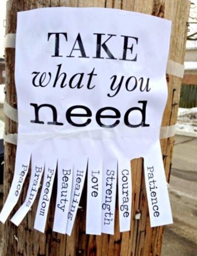 Take what you need lge